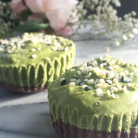 beautifully creamy matcha cheesecakes